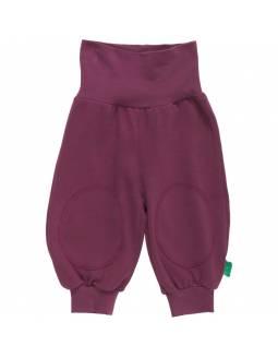 Pantalón FRED'S WORLD de algodón orgánico - Básico Burdeos
