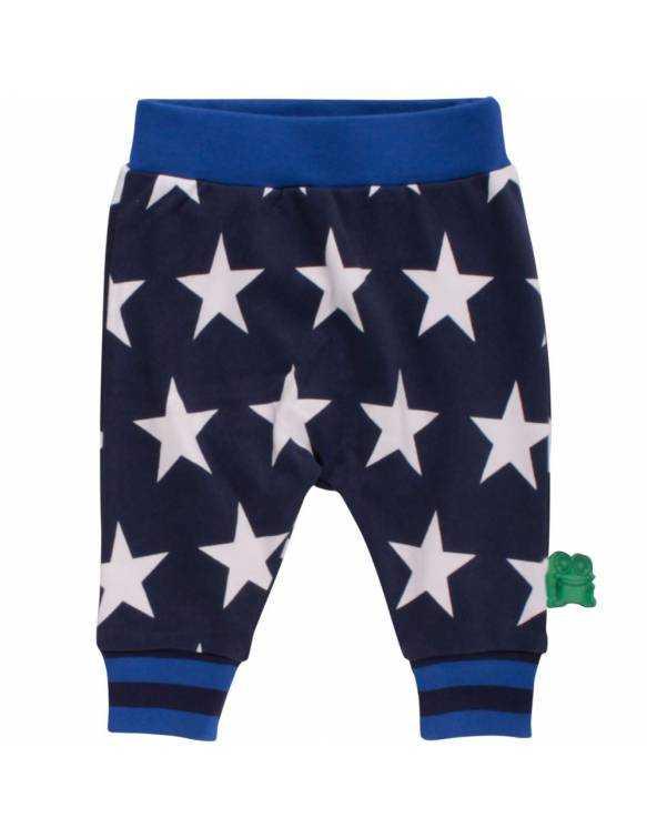 Pantalón FRED'S WORLD de algodón orgánico - Blue Stars
