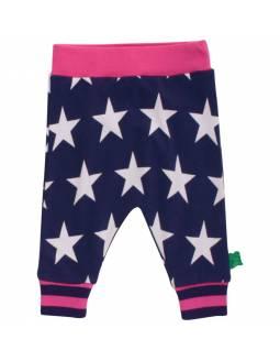 Pantalón FRED'S WORLD de algodón orgánico - Pink Stars