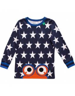 Camiseta bebé FRED'S WORLD de algodón orgánico - Blue Stars