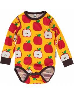 Body cruzado de algodón orgánico MAXOMORRA - Manzanas