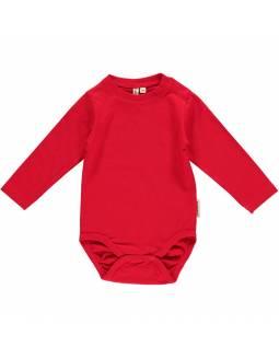 Body básico de algodón orgánico MAXOMORRA - Rojo