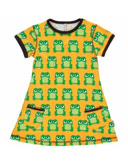Vestido de algodón orgánico MAXOMORRA - Ranas