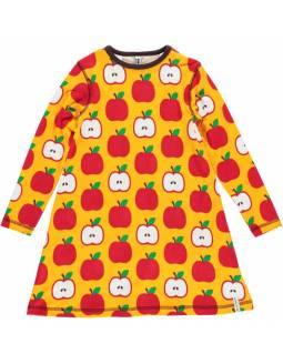 Vestido de algodón orgánico MAXOMORRA - Manzanas
