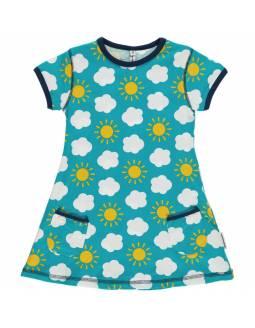 Vestido de algodón orgánico MAXOMORRA - En las Nubes