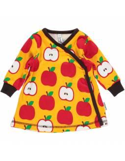 Vestido Cruzado de algodón orgánico MAXOMORRA - Manzanas