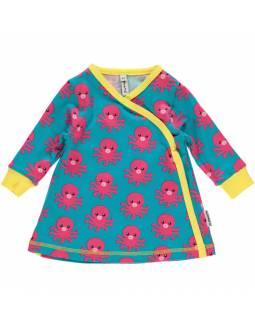Vestido Cruzado de algodón orgánico MAXOMORRA - Pulpo