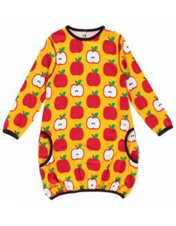 Vestido Globo de algodón orgánico MAXOMORRA - Manzanas