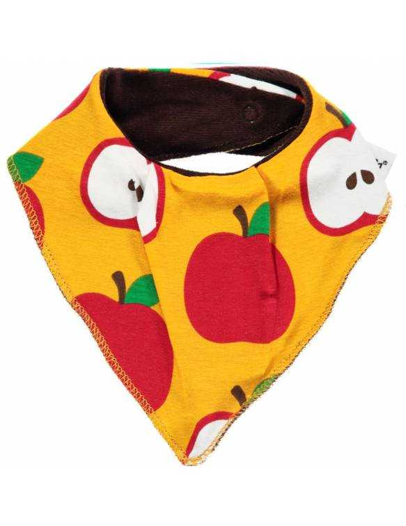 babero-bebe-algodon-organico-maxomorra-manzanas