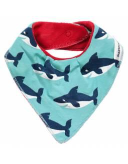 Babero de algodón orgánico MAXOMORRA - Tiburón