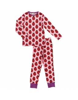 Pijama de algodón orgánico MAXOMORRA - Mariquita