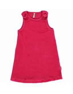 Vestido de algodón orgánico MAXOMORRA - Terciopelo Rosa