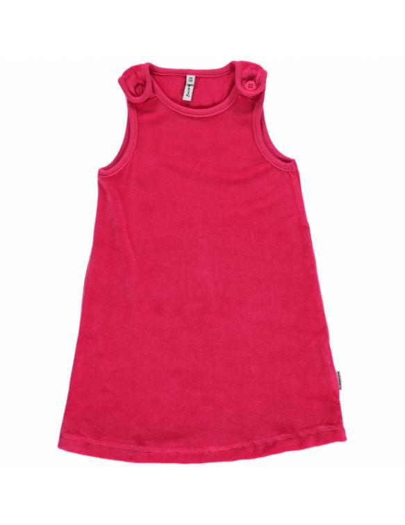 Vestido de algodón orgánico MAXOMORRA - Velour Rosa
