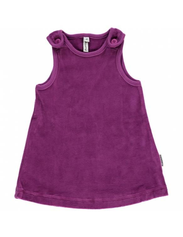 Vestido de algodón orgánico MAXOMORRA - Terciopelo Morado