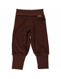 Pantalón de algodón orgánico MAXOMORRA - Terciopelo Marrón