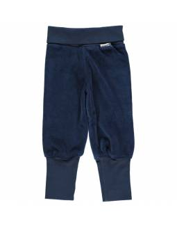 Pantalón de algodón orgánico MAXOMORRA - Terciopelo Azul