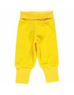 Pantalón de algodón orgánico MAXOMORRA - Terciopelo Amarillo