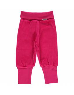Pantalón de algodón orgánico MAXOMORRA - Velour Rosa