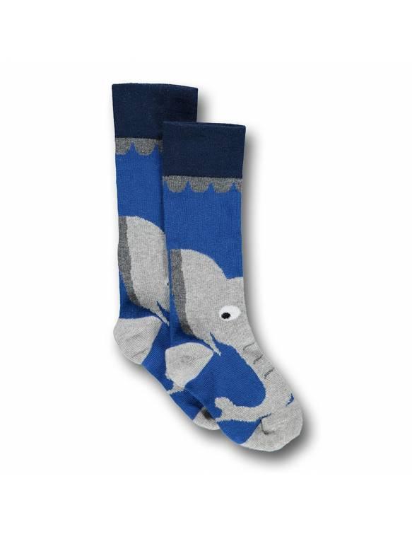 Calcetines UBANG de algodón OEKO-TEX - Elefante Azul