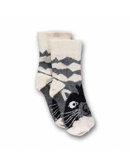 Calcetines UBANG de algodón OEKO-TEX - Mapache