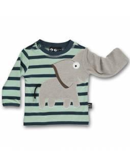 Camiseta Bebé Orgánica UBANG con elefante juguetón - Marinero