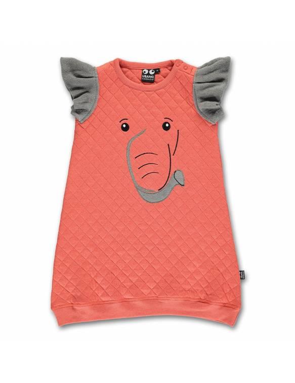 Vestido Orgánico UBANG con suave acolchado - Elefante
