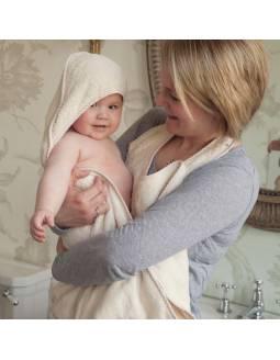 Toalla Orgánica para bebé CUDDLEDRY estilo delantal- Nature