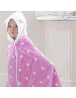 toalla-infantil-bambu-cuddledry-topos-rosa