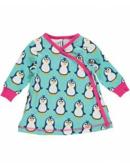 Vestido Cruzado Orgánico MAXOMORRA - Pingüinos