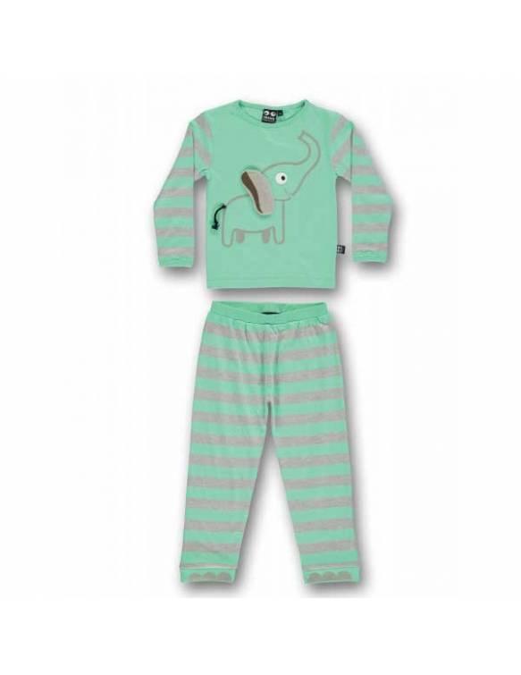 Pijama UBANG de algodón orgánico - Elefante Azul