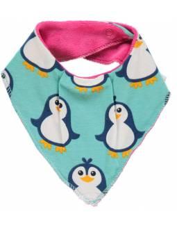 Babero de algodón orgánico MAXOMORRA - Pingüinos