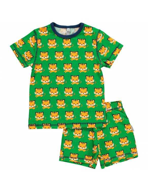 Pijama de algodón orgánico MAXOMORRA - Tigre