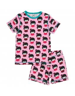 Pijama de algodón orgánico MAXOMORRA - Geishas