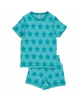 Pijama de algodón orgánico MAXOMORRA - Estrellas