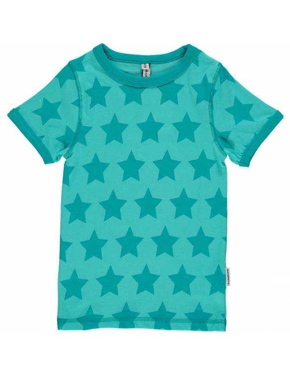 Camiseta Algodón Orgánico MAXOMORRA de corta - Estrellas