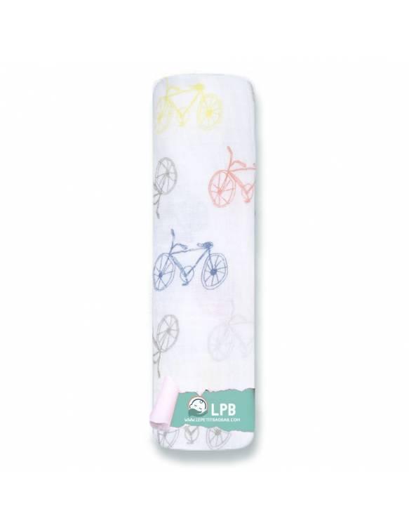 Muselina individual aden+anais de algodón - Leader Of The Pack - Bicicletas