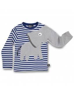 Camiseta Bebé de Algodón Orgánico UBANG - Elefante Navy