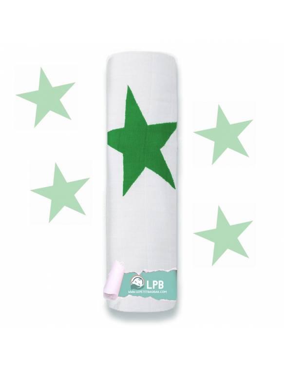 """Muselina individual aden+anais de algodón """"Super Star - Verde"""""""