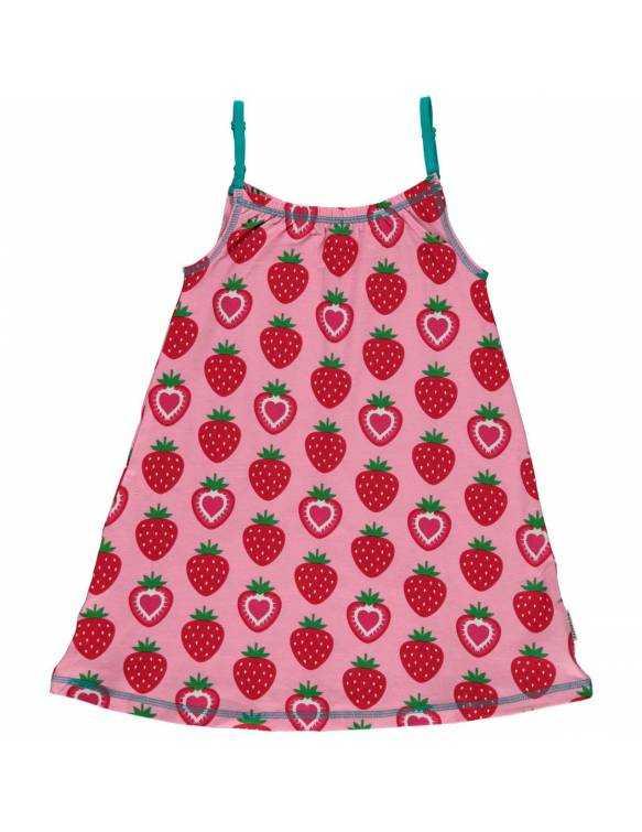Vestido Orgánico de Tirantes MAXOMORRA - Fresas