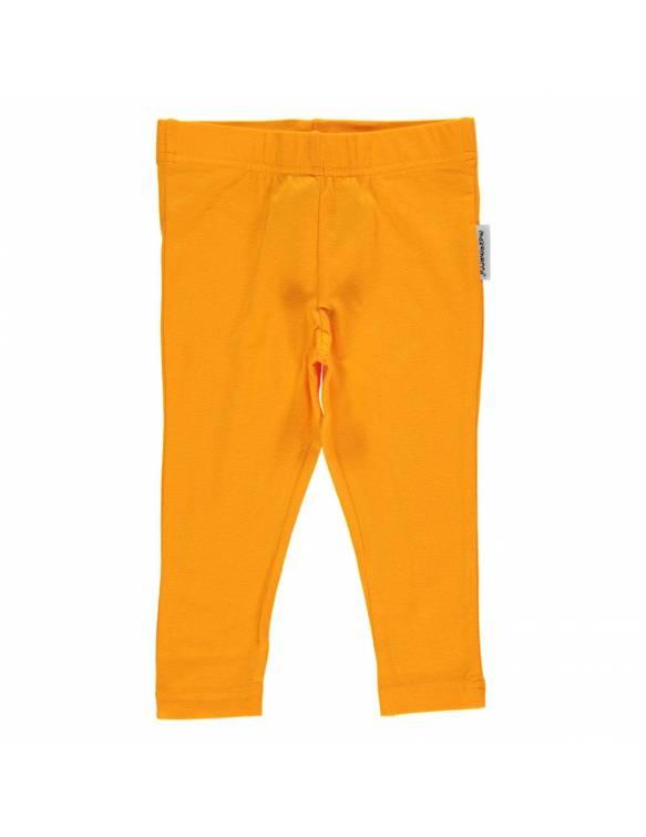 Leggins pirata de algodón orgánico MAXOMORRA - Básico Naranja