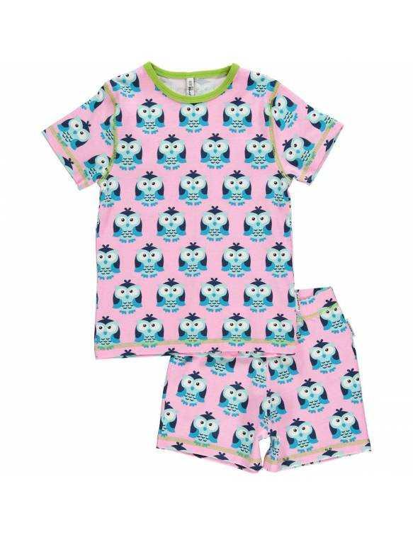 Pijama de algodón orgánico MAXOMORRA - Búho