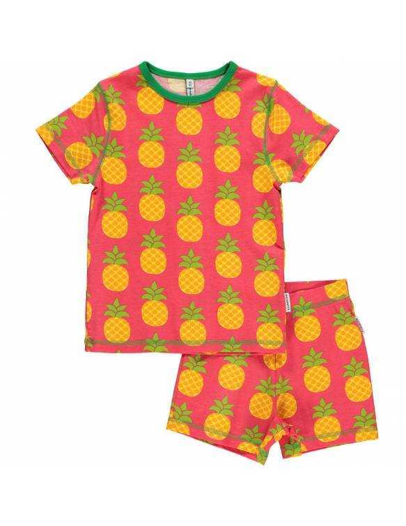 Pijama de algodón orgánico MAXOMORRA - Piña