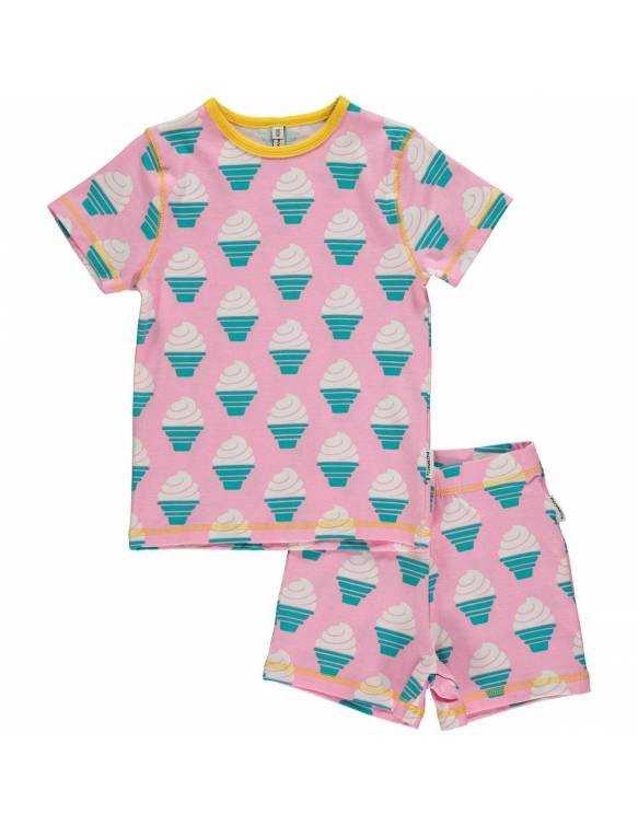 Pijama de algodón orgánico MAXOMORRA - Helado