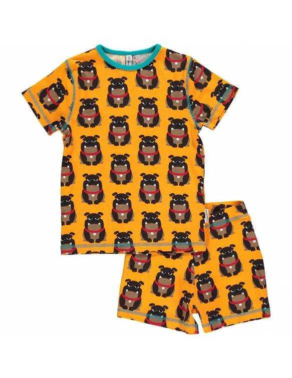 Pijama de algodón orgánico MAXOMORRA - Bulldog