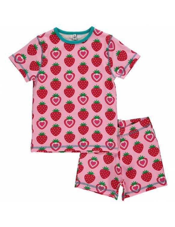 Pijama de algodón orgánico MAXOMORRA - Fresas