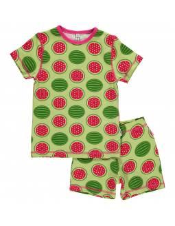 Pijama de algodón orgánico MAXOMORRA - Sandía