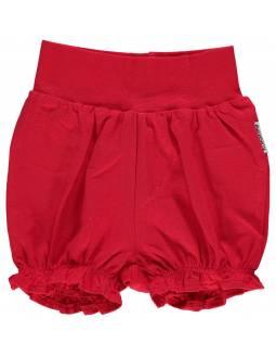 Shorts Orgánicos con Volante MAXOMORRA - Básico Rojo