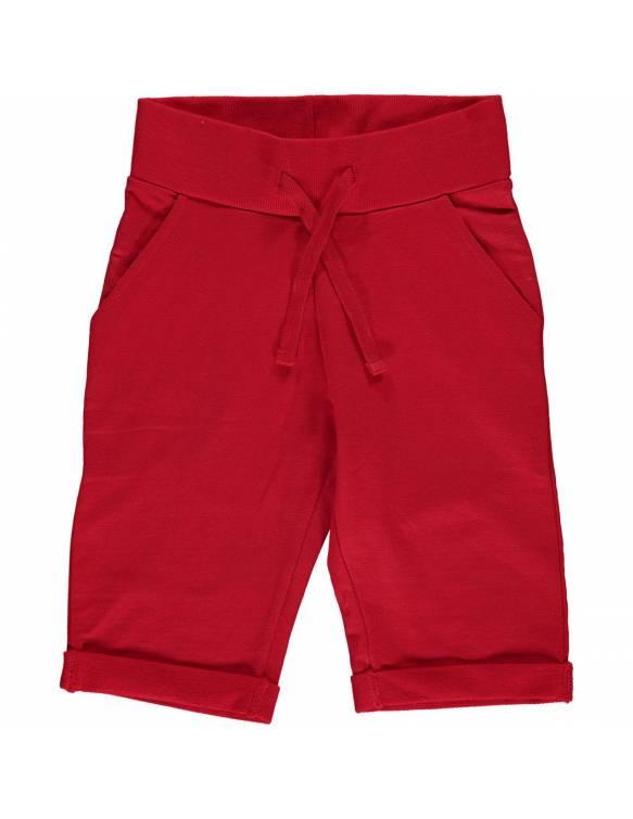 Pantalón Corto Orgánico MAXOMORRA - Básico Rojo