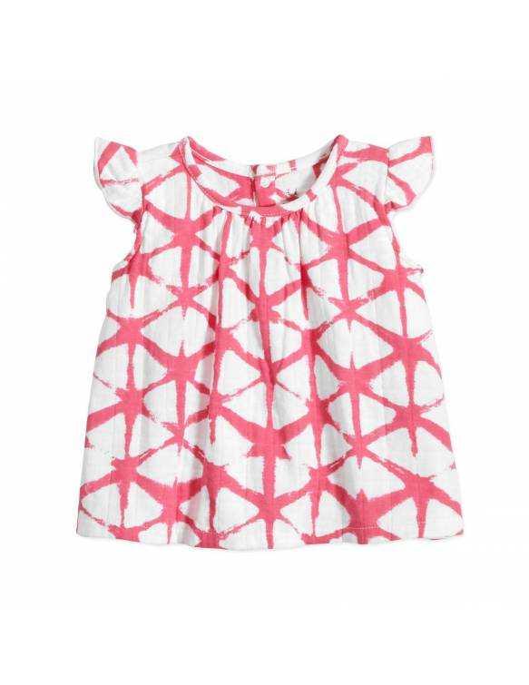 Camiseta de Muselina ADEN+ANAIS - Berry Shibori