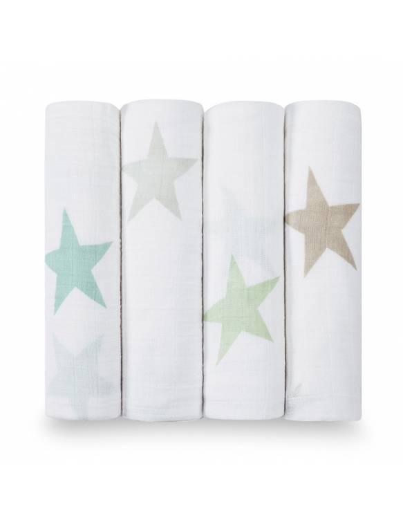 "Muselinas PACK aden+anais de algodón ""Super Star Scout"""